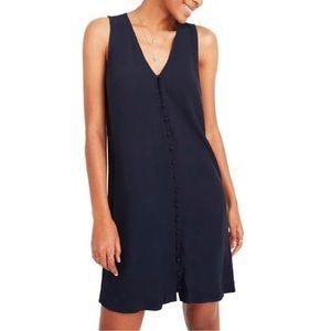 Madewell Heather Navy Button-Down Dress XS